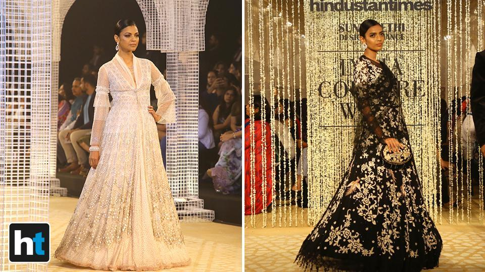 He used fabrics such as tulle and georgette to add lightness and enhance movement. (Raajessh Kashyap/HT Photo)
