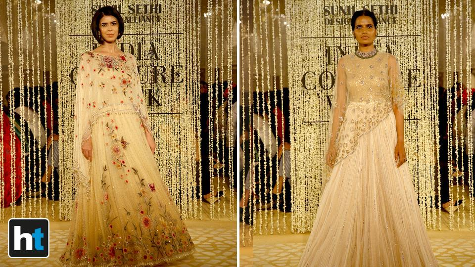 The collection was a modern take on traditional majestic silhouettes.  (Raajessh Kashyap/HT Photo)