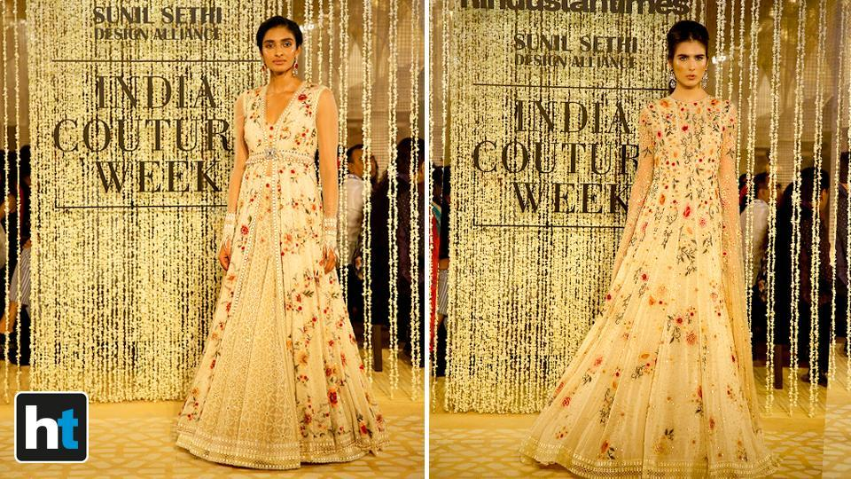 It included a number of light and airy dresses with subtle skin-baring.  (Raajessh Kashyap/HT Photo)
