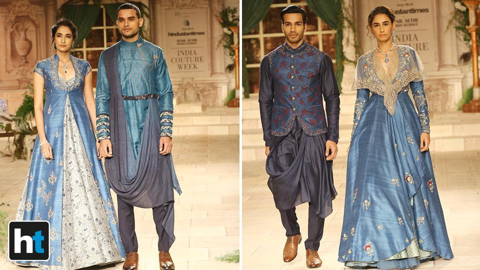 Modi's men's collection too was widely appreciated by the audience.  (Raajessh Kashyap/HT Photo)