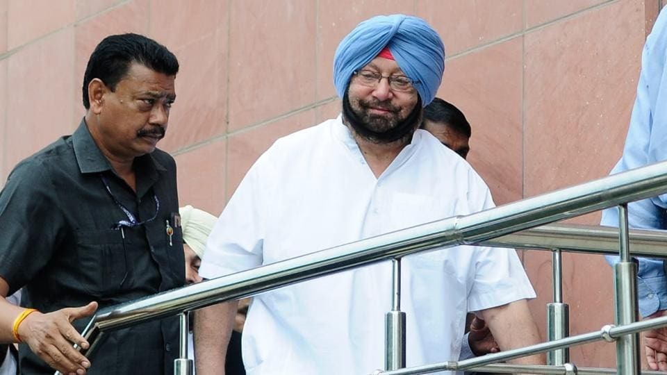 Punjab chief minister Captain Amarinder Singh appears for the hearing of Amritsar Improvement Trust (AIT) scam in Mohali on Friday.