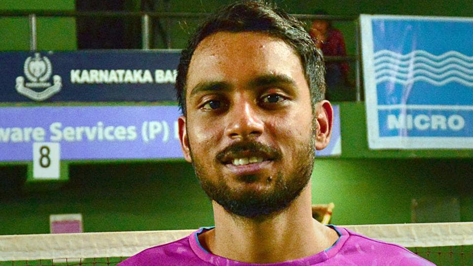 Sourabh Verma won his match in just 36 minutes.