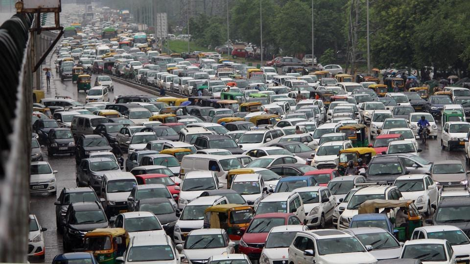 Delhi woke up to heavy rains and had to face waterlogging and traffic snarls at various places of the city for the second consecutive day on Friday.