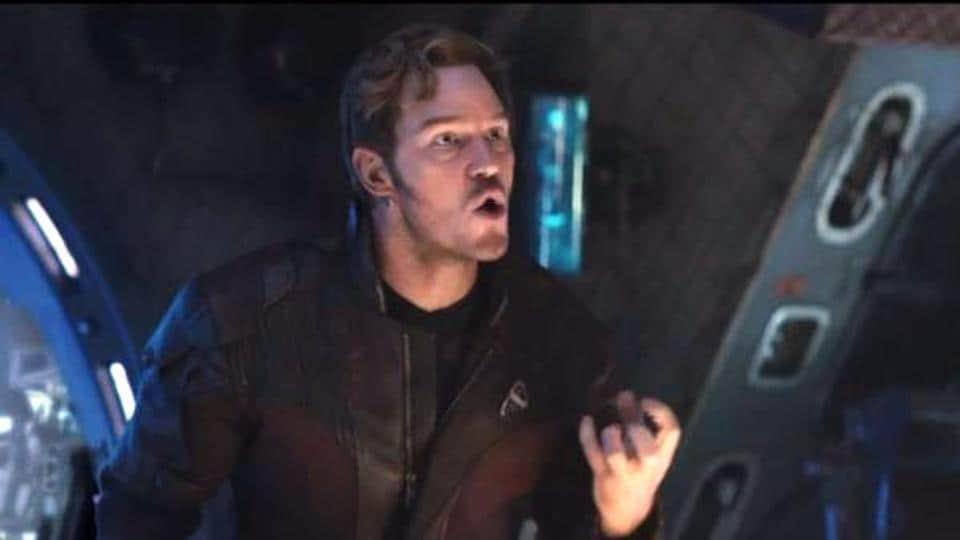 Chris Pratt as Peter Quill (Star Lord) in Avengers: Infinity War.