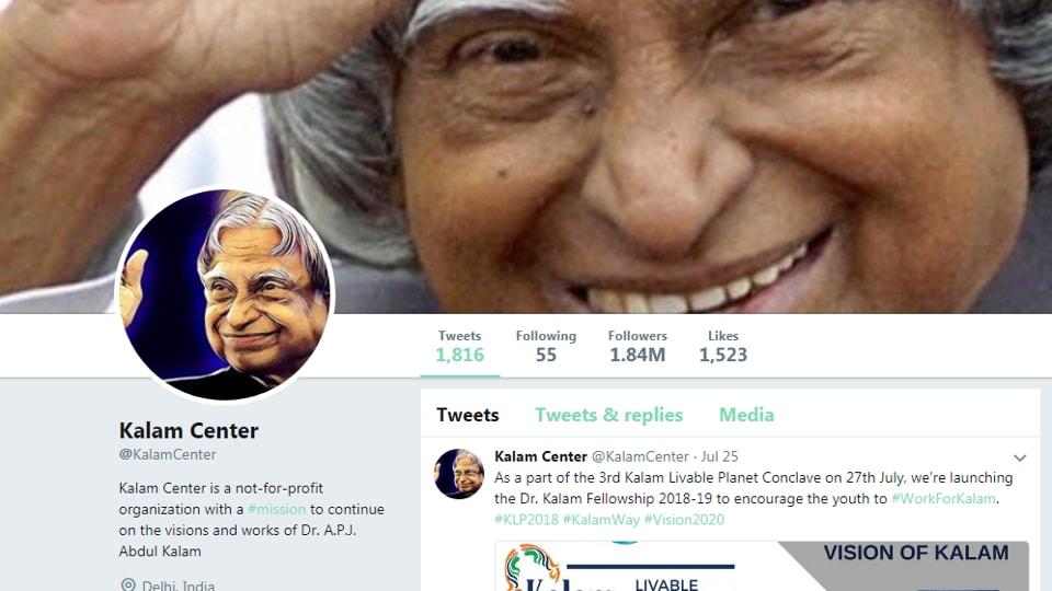 Abdul Kalam,Abdul Kalam's twitter account,twitter