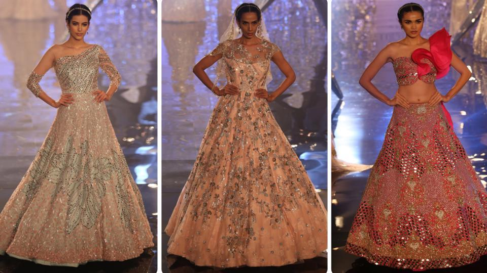 These three sparkling, glamorous sarees are for born fashionistas. (Amal KS/HT Photo)