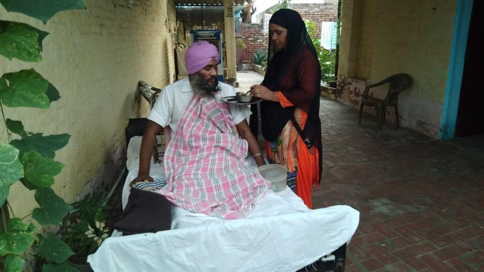 Nirbhay Singh, 45, is paralysed waist down due to a spine injury he suffered in a terrorist attack in Jammu and Kashmir in 2001.