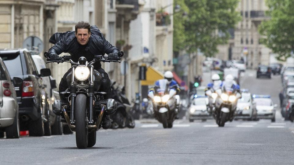 Tom Cruise in a still from Mission Impossible Fallout.