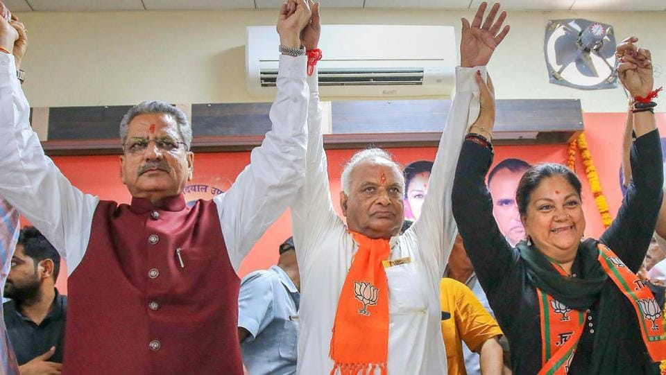 The BJP has already declared Vasundhara Raje as the chief ministerial candidate in Rajasthan, said Saini.