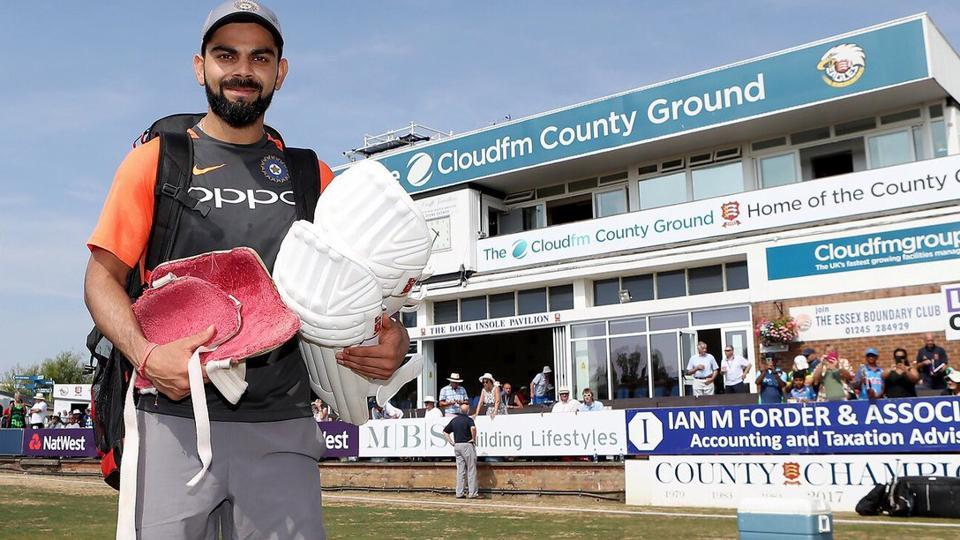 Virat Kohli scored a half century for India in the warm-up match against Essex.