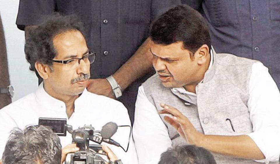 Sena chief Uddhav Thackeray and CM Devendra Fadnavis.