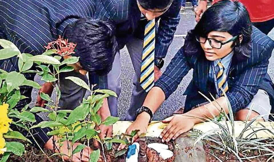 Mumbai,Green Heroes,Students plant 200 saplings