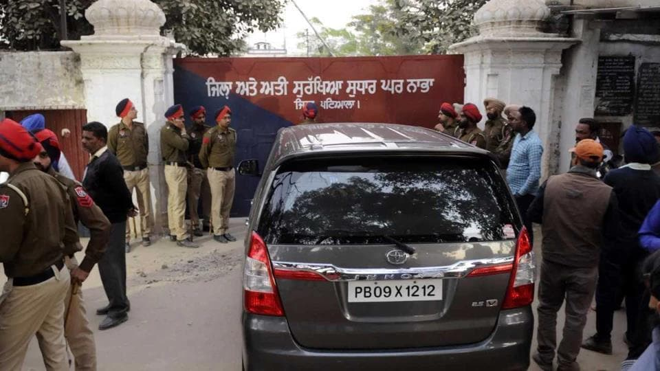 Two militants and four gangsters escaped the high security prison in Nabha in November 2016 with the help of 15 other gangsters.
