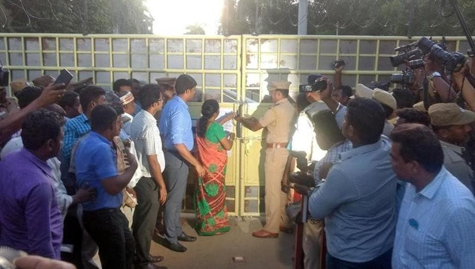 According to  the Thoothukudi district collector, the Tamil Nadu government had taken a policy decision in closing the Sterlite copper smelter plant.