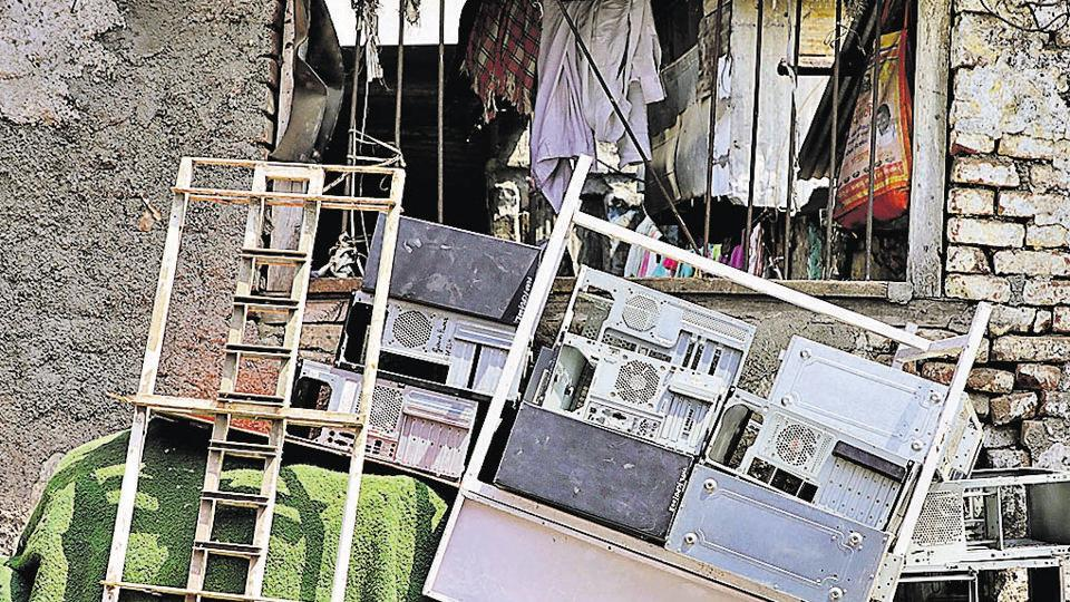 The Pune municipal corporation has no specific policy related to e-waste segregation and recycling.  Mounts of e-waste is seen at Juna Bazaar, Ganesh peth, on Sunday.