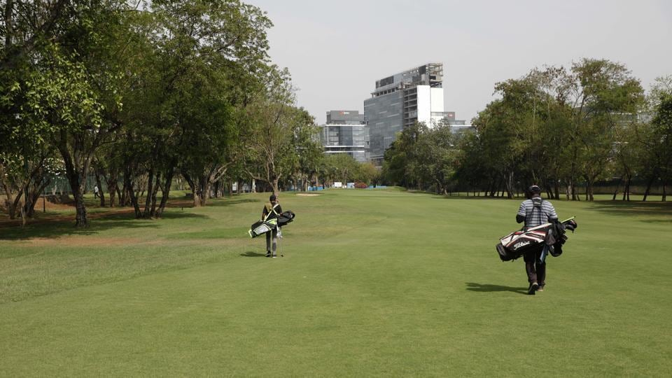 Poona Golf Course, Airport Road Yerwada in Pune, India.