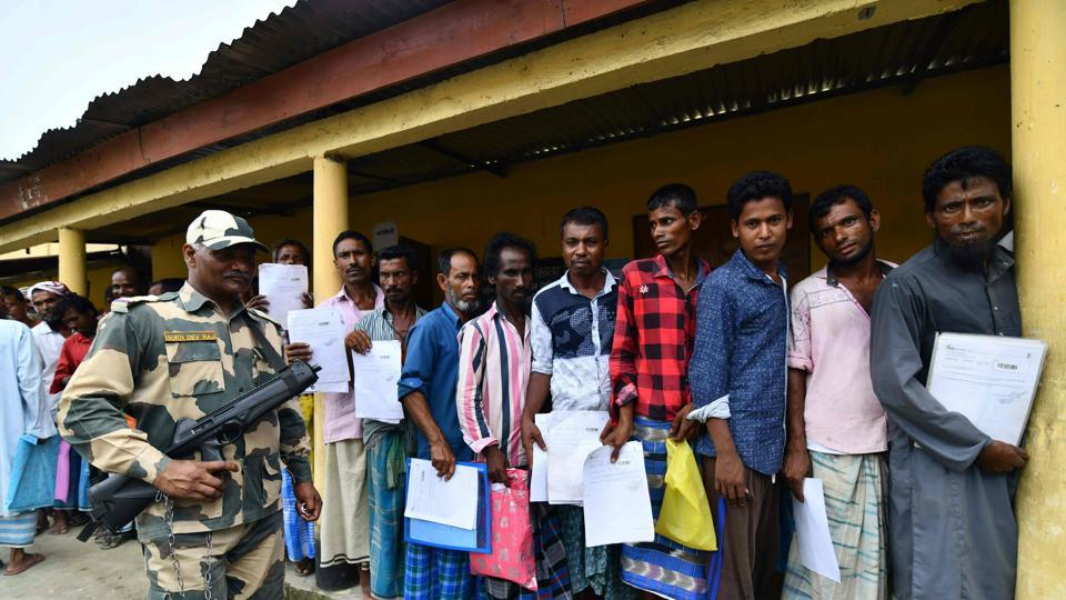 The names of around 40 lakh of 3.29 crore applicants were missing from the Supreme-Court mandated final draft of the National Register of Citizens (NRC) released on Monday. The NRC has been updated for the first time since 1951 to account for illegal migration from neighbouring Bangladesh. (Biju Boro / AFP)