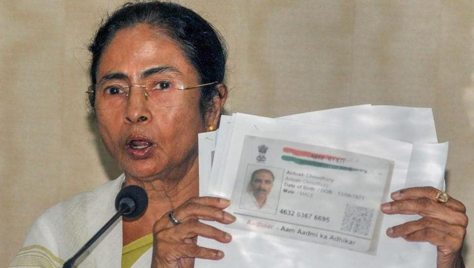 West Bengal Chief Minister Mamata Banerjee addresses a press conference over the final NRC draft of Assam that released today, at Nabanna in Howrah on Monday, July 30, 2018.