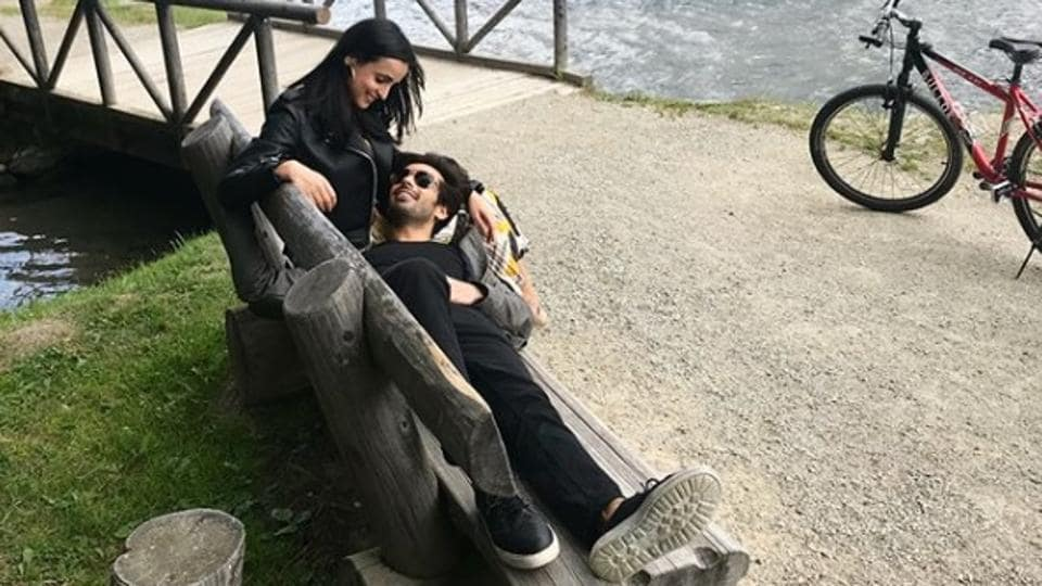 Sanaya Irani and Mohit Sehgal in Switzerland.