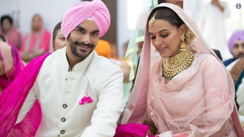 Neha Dhupia,Angad Bedi,Marriage