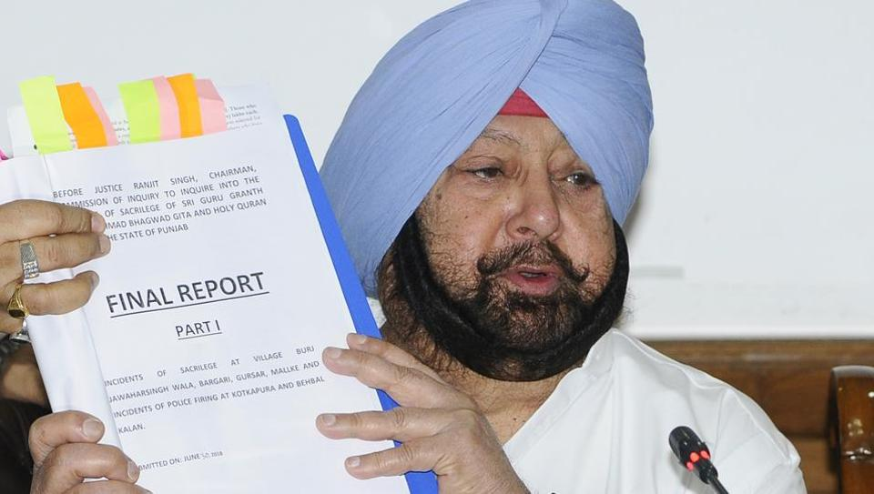 Punjab CM Capt Amarinder Singh at the press meet in Chandigarh on Monday.