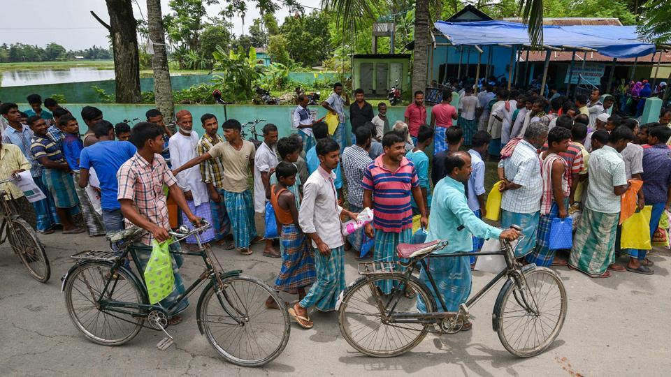 """Assam's updated National Register of Citizens (NRC) is a draft and """"no coercive action"""" should be taken against people whose names were excluded, the Supreme Court said on Tuesday. The Court allowed the Union government to draft rules for dealing with the claims and objections of 40 lakh people who were excluded from NRC, which was published on Monday. (PTI File)"""
