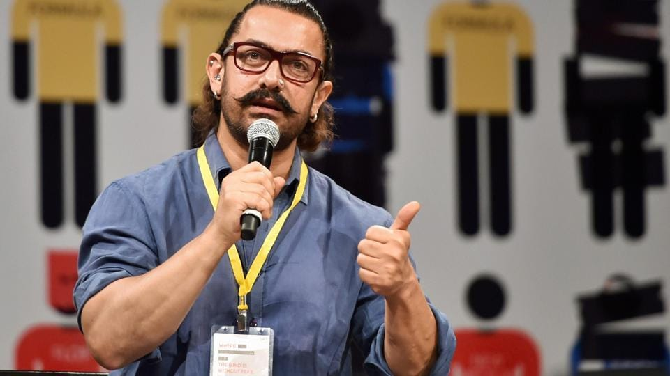 Bollywood actor Aamir Khan spoke at the 5th Screenwriters Conference, in Mumbai on Wednesday.