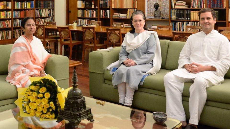 Mamata Banerjee said priority is to defeat BJP, after her meeting with Sonia and Rahul Gandhi
