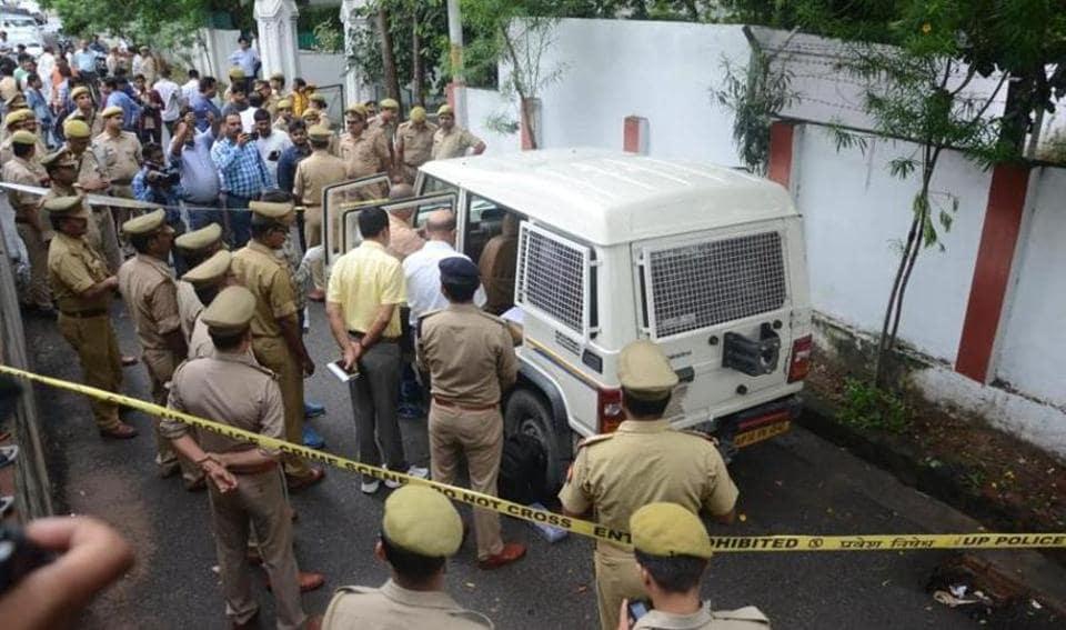 Lucknow cash van loot,Murder,Assailants