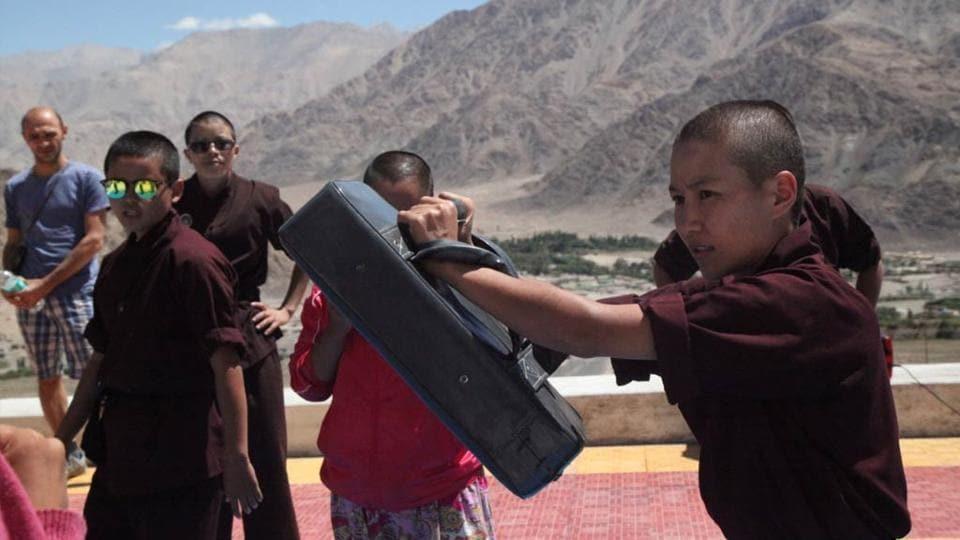 Kungfu nuns,Self defence,Kungfu nuns in Ladakh