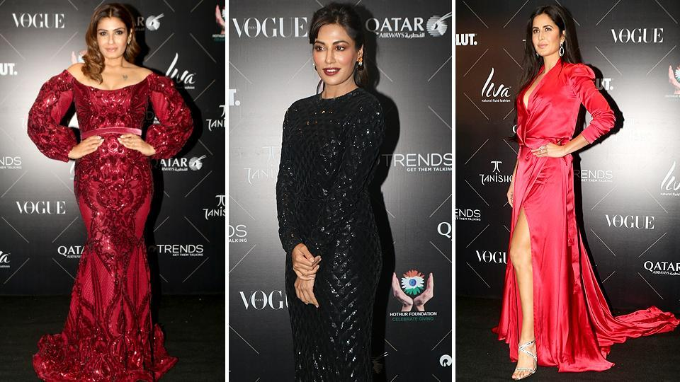 Raveena Tandon, Chitrangada Singh and Katrina Kaif set the red carpet on fire effortlessly. Katrina Kaif  won the Fitspiration of the Year at the event. (IANS)
