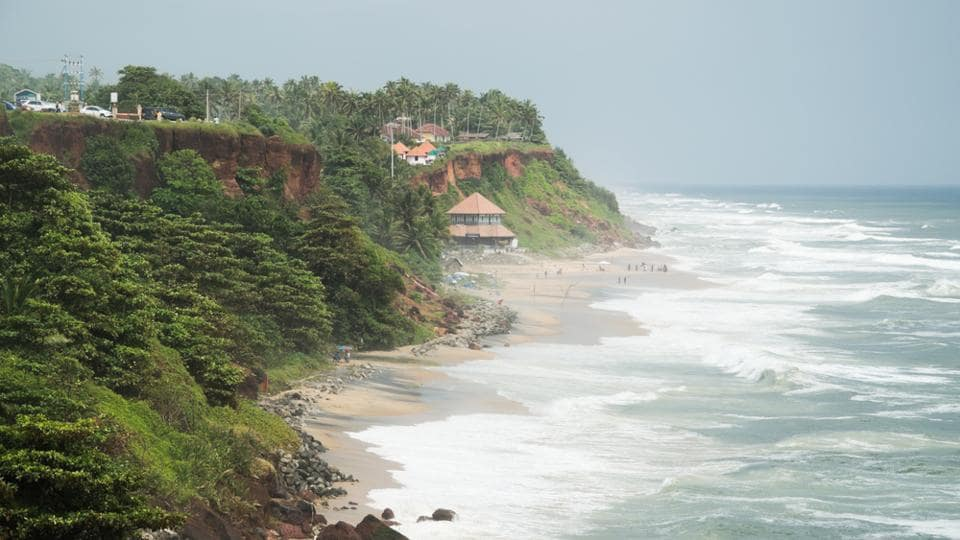 Beaches to visit in monsoon,Varkala Beach,Vagator Beach