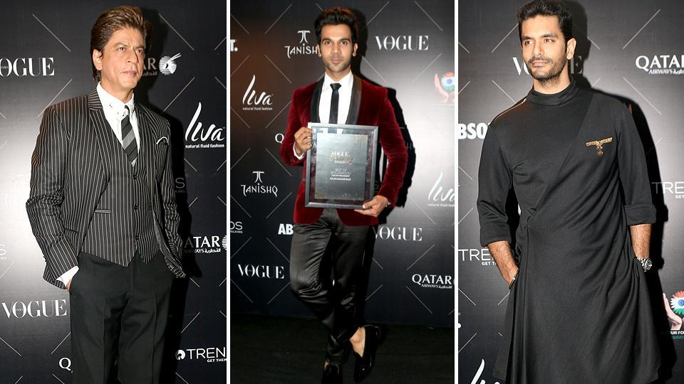 Our favourite stars from Bollywood were seen at the Vogue Beauty Awards on Tuesday and actors like Shah Rukh Khan, Rajkumar Rao, Angad Bedi were in attendance.   (IANS)