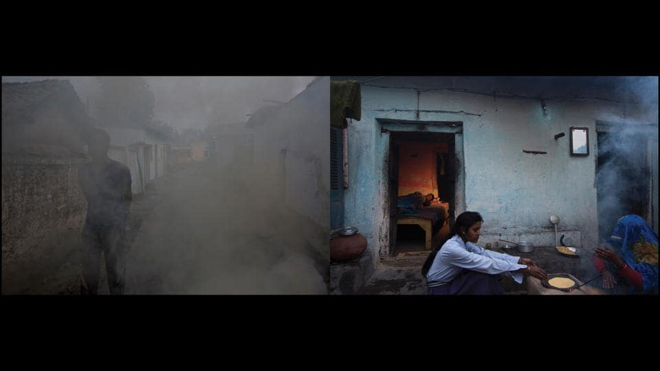 "Left: Ovens (angeethis) in Chilkadand, Right: Rohit Kumar. ""My father died of tuberculosis in 2014. In 2015, I contracted it,"" says 17-year-old Rohit Kumar who is living out his father's destiny. In desperation, his mother Sukhraj Devi would collect loose coal at night which she'd sell in order to pay for her husband's treatment. After his death, she travelled for Rohit's treatment from Ashram, Badwahi and Renusagar to NTPC, Anpara and Buxar - but Rohit still remains bed-ridden.  (Ruhani Kaur)"