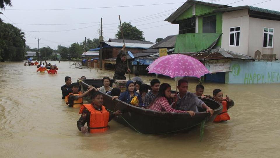 Myanmar floods,Myanmar flood victims,National Natural Disaster Management Committee