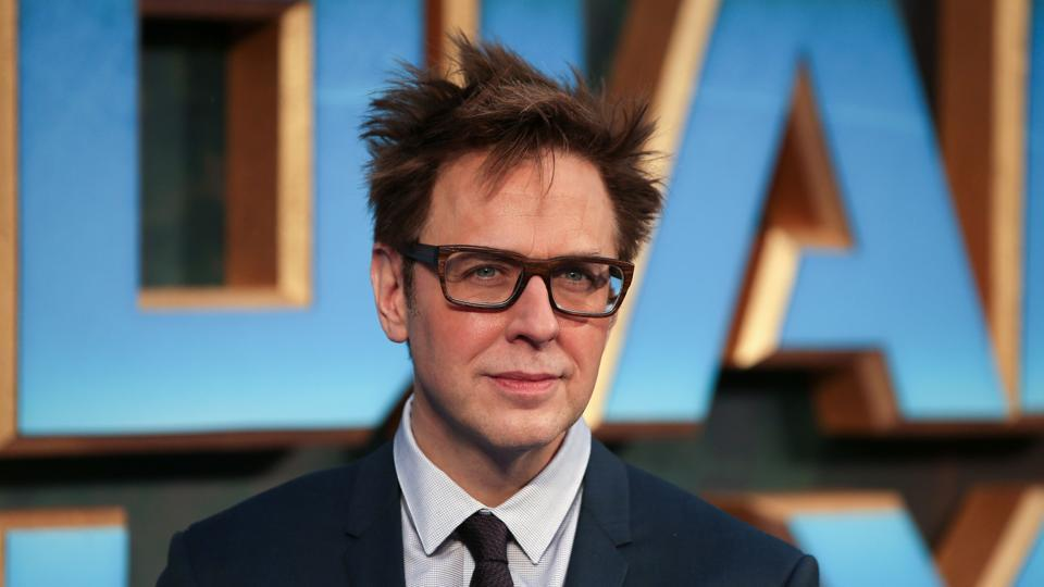 Director James Gunn poses for a photograph upon arrival at the European Gala screening of Guardians of the Galaxy Vol. 2 in London.