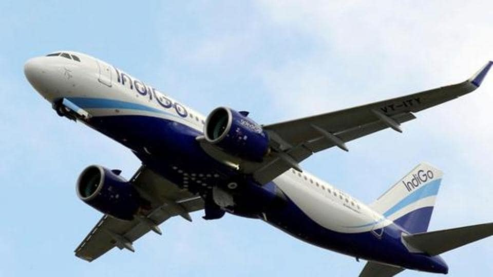 An IndiGo Airlines Airbus A320 aircraft takes off in Colomiers near Toulouse, France, October 19, 2017.