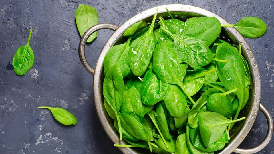 Spinach contains vitamin A, vitamin C, folate and iron- all of which are good for hair growth. Vitamin A aids the skin glands in producing sebum, which helps the scalp in maintaining healthy hair. Spinach is also a plant based form of iron, which fuels hair growth.  (Shutterstock)