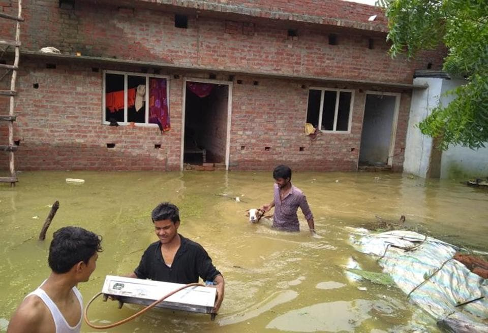 Rains,Flood,Bahraich