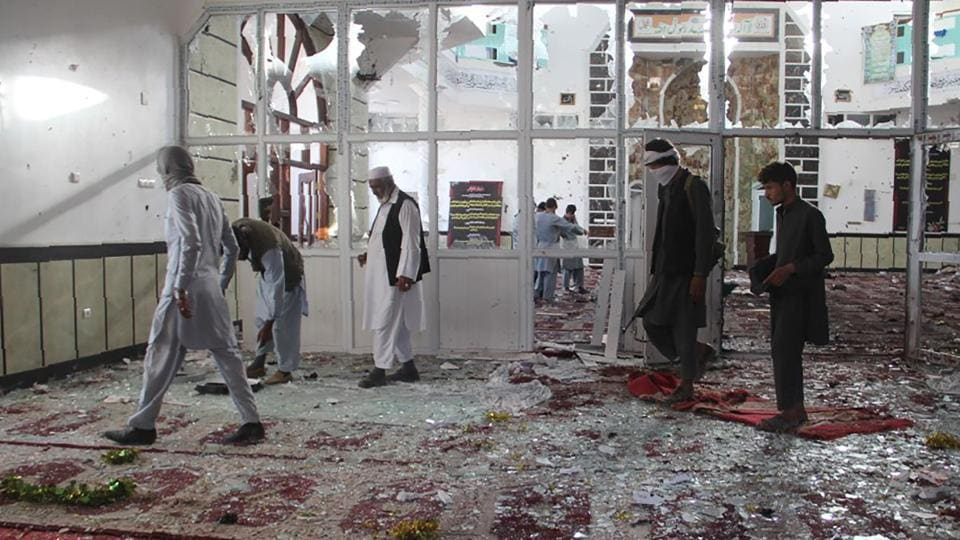Afghanistan,Suicide attack hits inside Shiite mosque,Shia Mosque