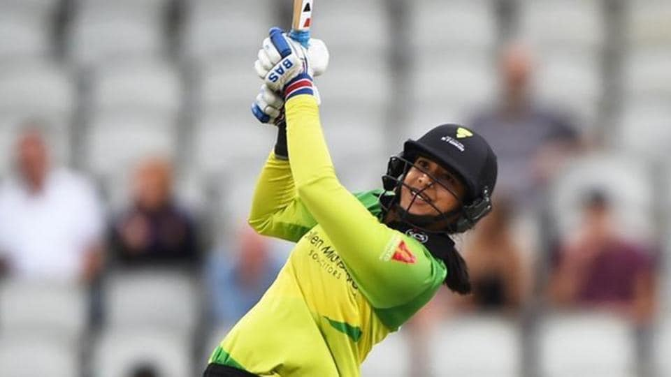 Smriti Mandhana hit 12 boundaries and four sixes in her innings.