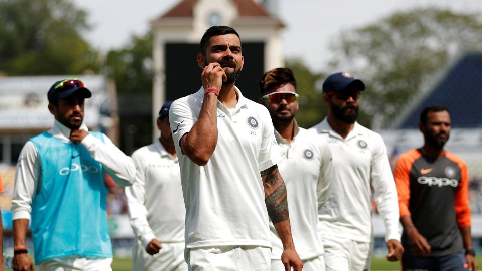 India's Virat Kohli reacts at the end of the match