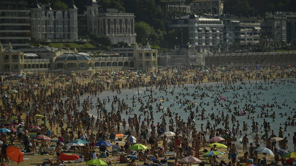 Spain,portugal,heat wave in europe