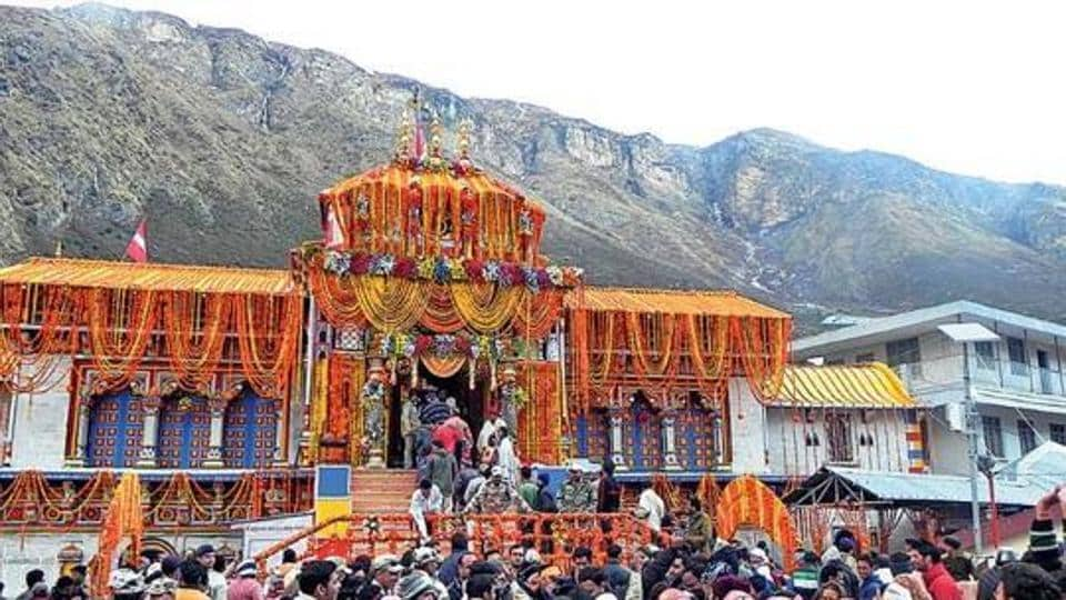 Locals celebrating the opening of the Badrinath portals.