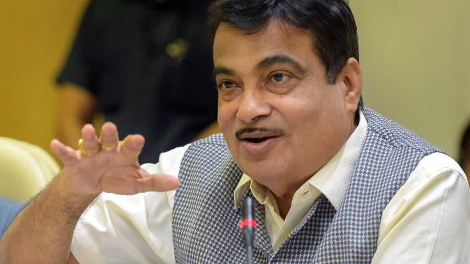 Union minister Nitin Gadkari at Niti Aayog in New Delhi in June 2018.