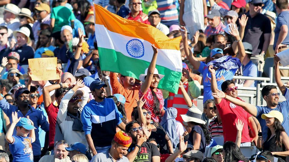 Indian supporters during a Twenty20 International cricket match in Dublin.