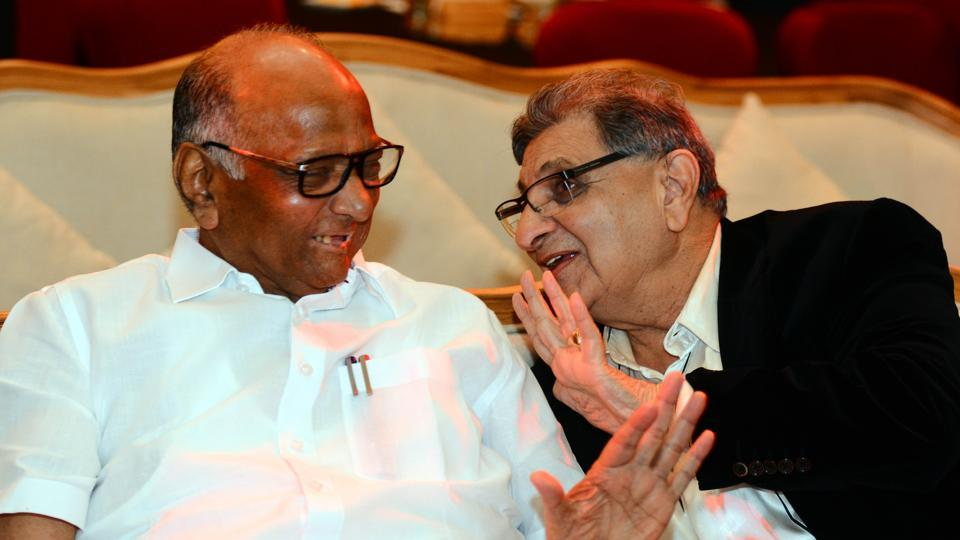 Sharad Pawar and Cyrus Poonawalla (right) in Pune on Sunday.