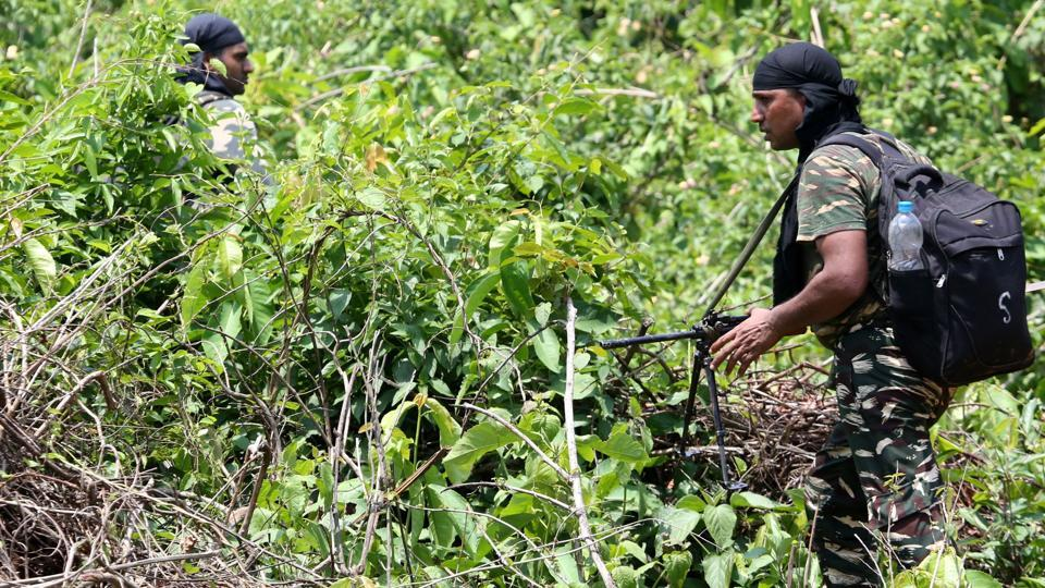Fourteen Maoist rebels were killed in Sukma district of Chhattisgarh in an encounter with security forces and 16 weapons were recovered from the encounter site, on Monday morning, police said. (Sanjib Dutta / AFP File)