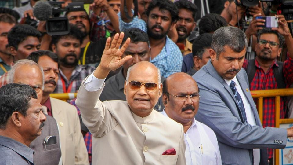A temple priest in Kerala's Thrissur was arrested on Monday for allegedly making a death threat against President Ram Nath Kovind, who is on a three-day visit to the state, police said. P Jayaraman, a priest at the Chirakkal Bhagwati temple, made a call to the police control room saying he will plant a bomb at the venue where the President was slated to address a meeting on Tuesday. (PTI File)