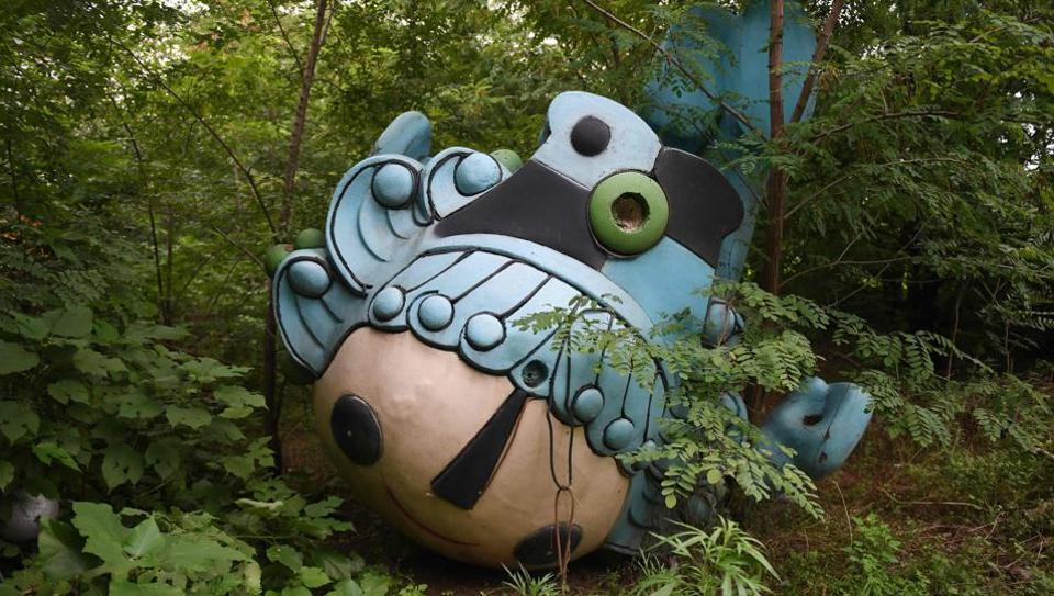 Beibei, one of five mascots for the 2008 Beijing Olympic Games, lies behind an abandoned, never-completed mall in Beijing. A decade after the 2008 Olympics, its legacy remains unmistakable from the smallest alleyways in the Chinese capital to the country's growing clout abroad. For better or worse, the Games changed the face of Beijing: from the iconic Bird's Nest stadium to the countless blocks of ancient homes bulldozed in an Olympic building frenzy. (Greg Baker / AFP)